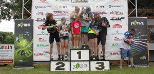 Siegertrppchen der gemischten Teams beim Bike and Bike 2017